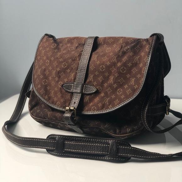3579ece040aa Louis Vuitton Handbags - LOUIS VUITTON Saumur 30 Mini Lin Crossbody Vintage